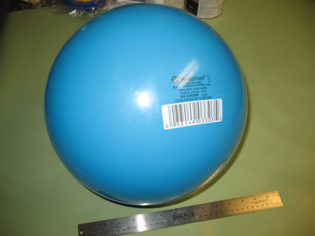 Blue inflatable bouncy ball