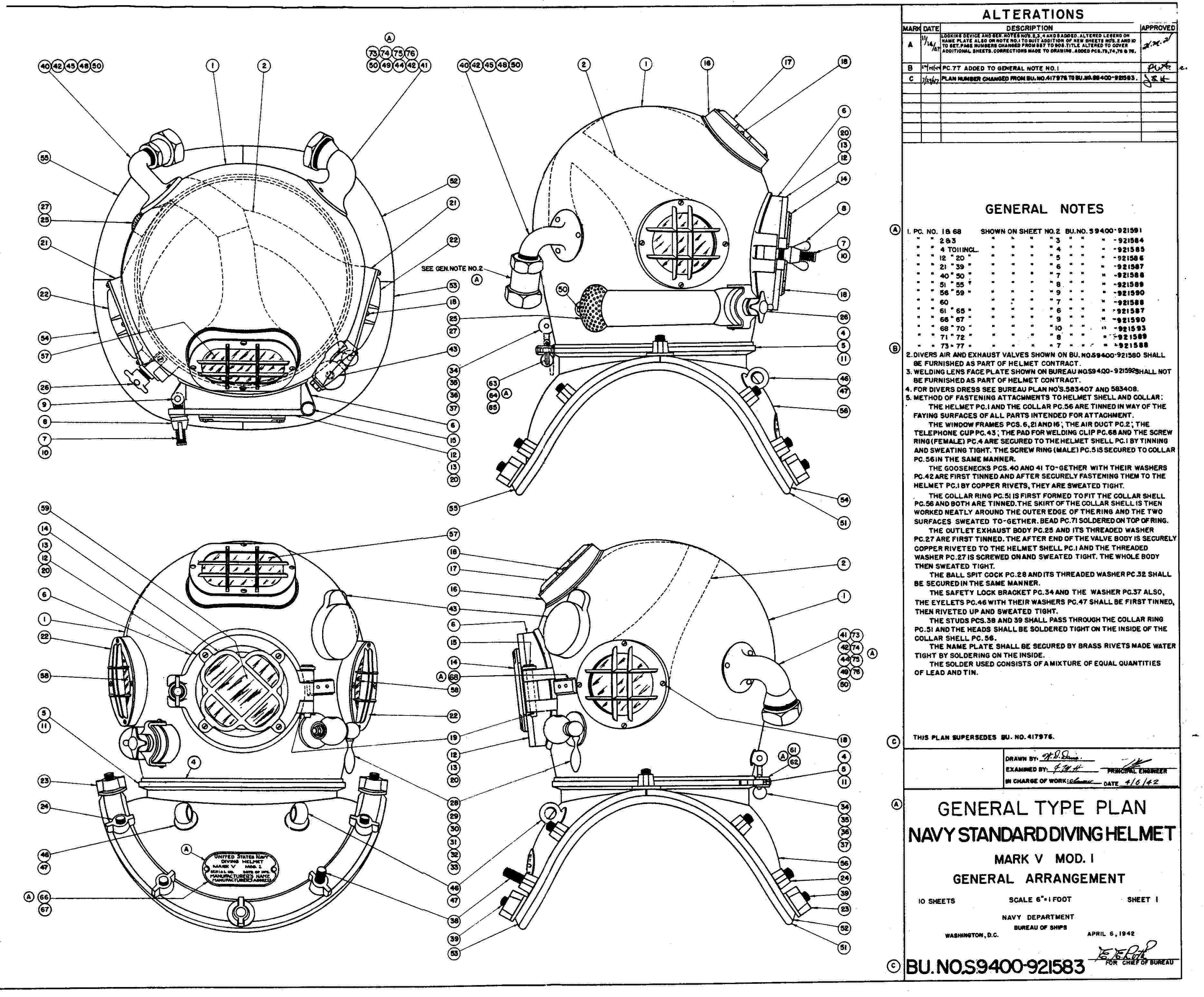 Navy MK V drawing